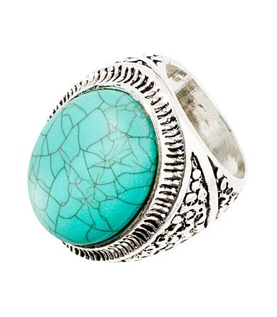 ring med turkos sten